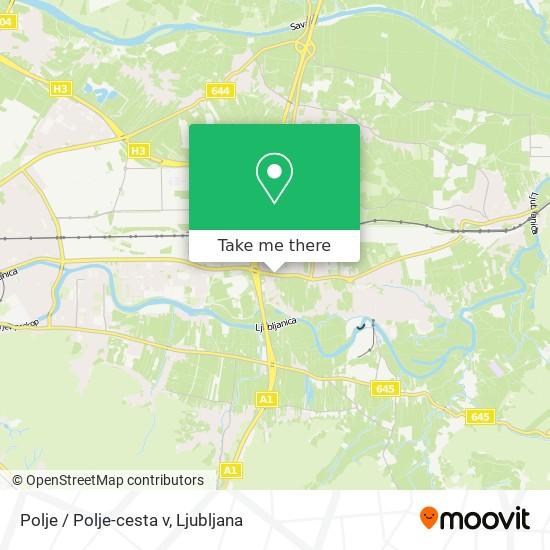 Polje / Polje-cesta v map