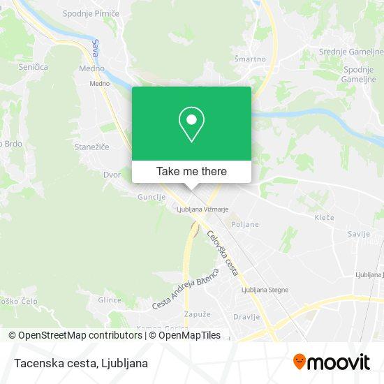 Tacenska cesta map