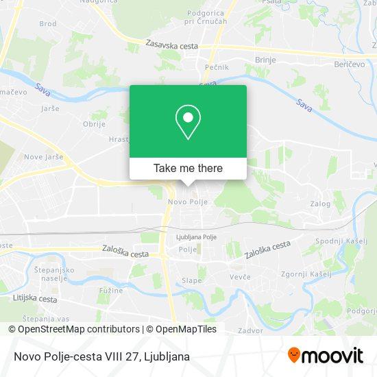 Novo Polje-cesta VIII 27 map