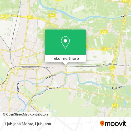 Ljubljana Moste map