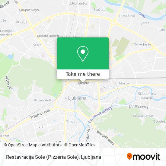 Restavracija Sole (Pizzeria Sole) map
