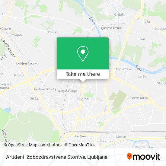 Artident, Zobozdravstvene Storitve map