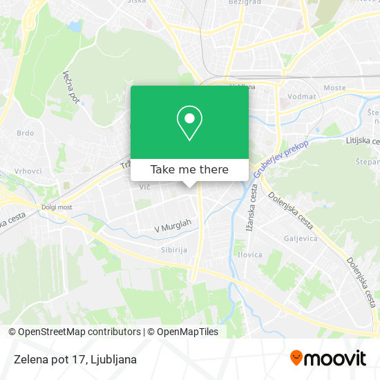 Zelena pot 17 map