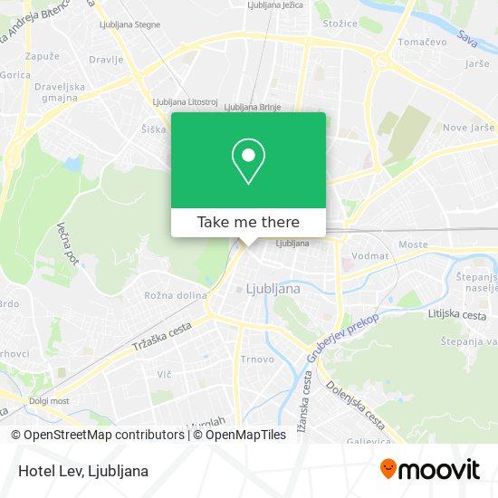 Hotel Lev map