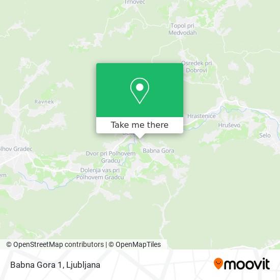 Babna Gora 1 map
