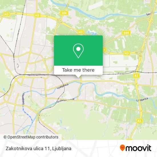 Zakotnikova ulica 11 map
