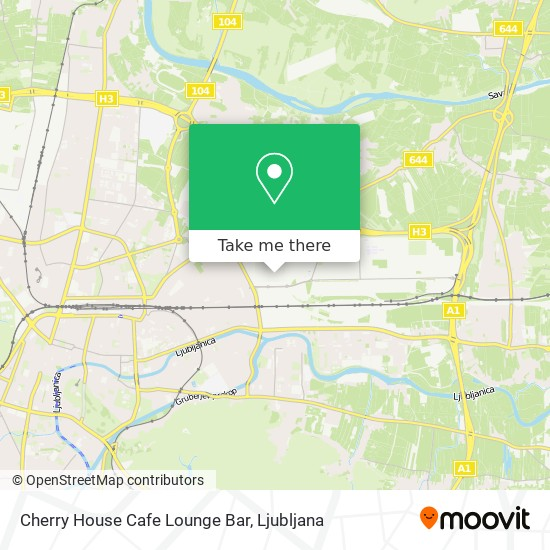 Cherry House Cafe Lounge Bar map