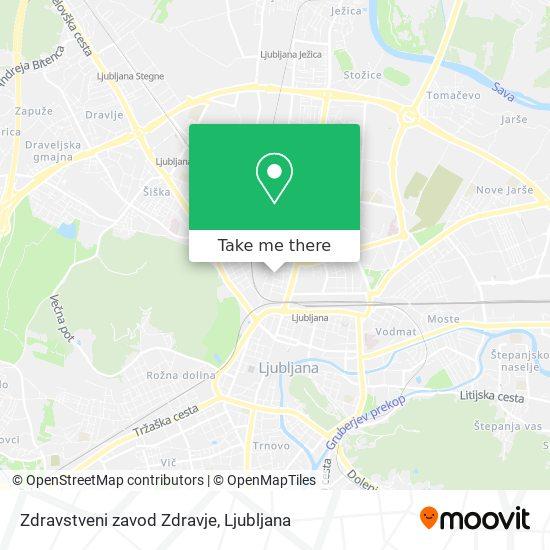 Zdravstveni zavod Zdravje map