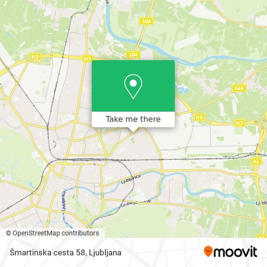 Šmartinska cesta 58 map