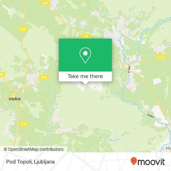 Pod Topoli map