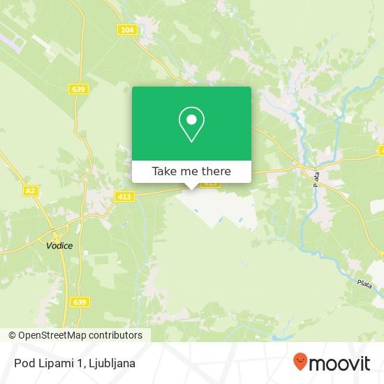 Pod Lipami 1 map