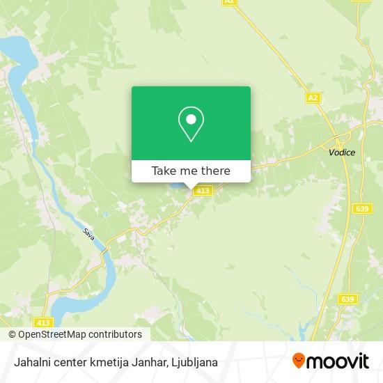 Jahalni center kmetija Janhar map