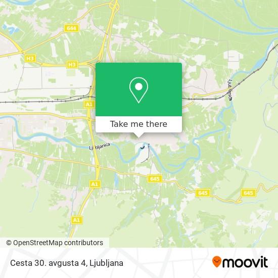 Cesta 30. avgusta 4 map