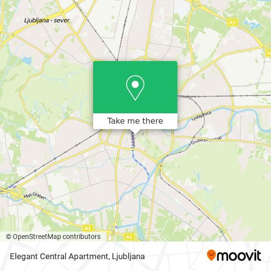 Elegant Central Apartment map