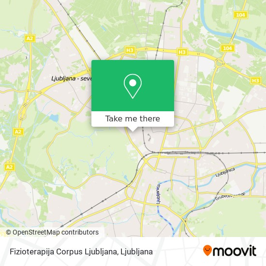 Fizioterapija Corpus Ljubljana map