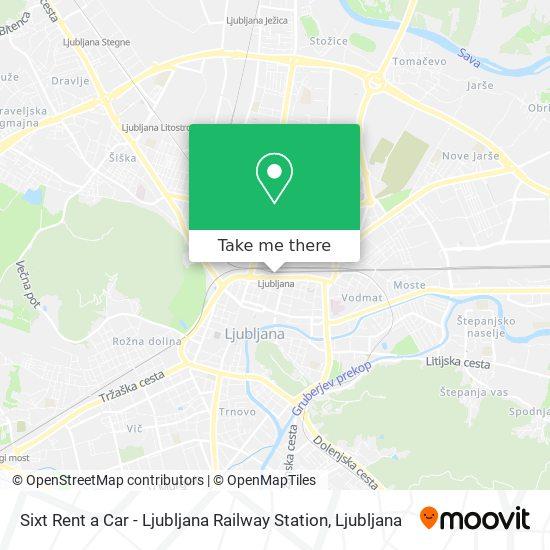 Sixt Rent a Car - Ljubljana Railway Station map
