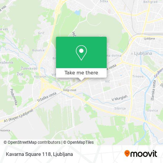 Kavarna Square 118 map
