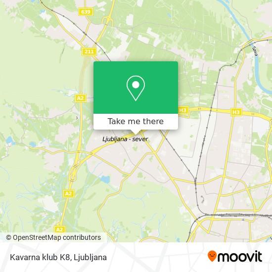 Kavarna klub K8 map