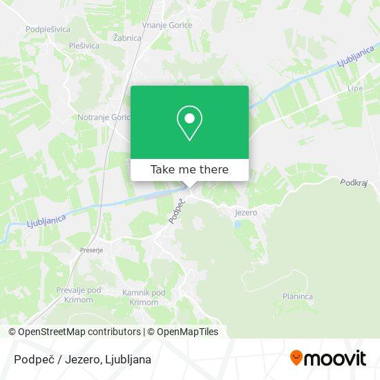Podpeč / Jezero map