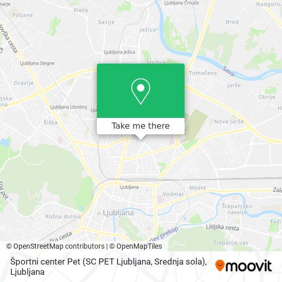 Športni center Pet (SC PET Ljubljana, Srednja sola) map