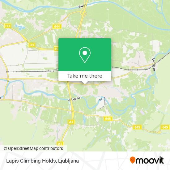 Lapis Climbing Holds map