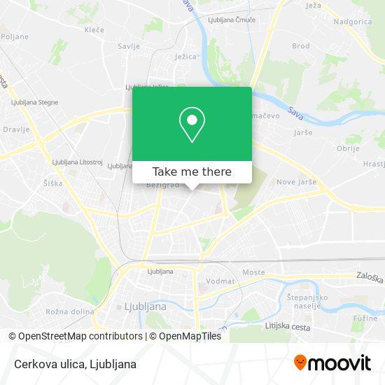 Cerkova ulica map