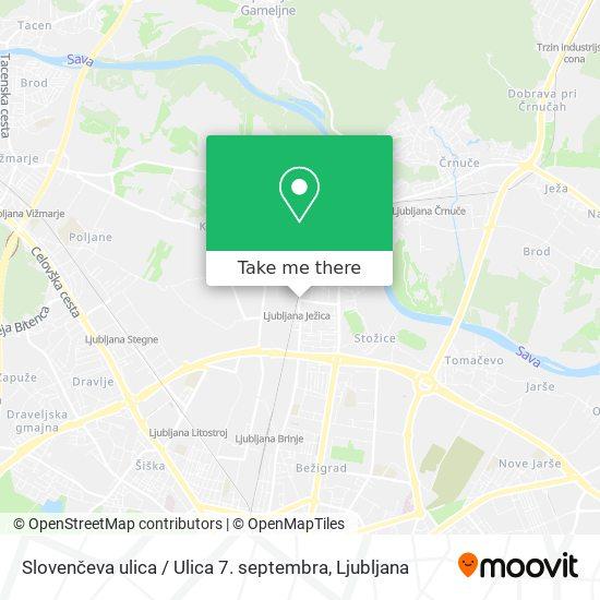 Slovenčeva ulica / Ulica 7. septembra map