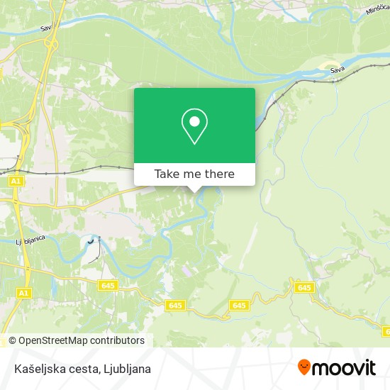 Kašeljska cesta map