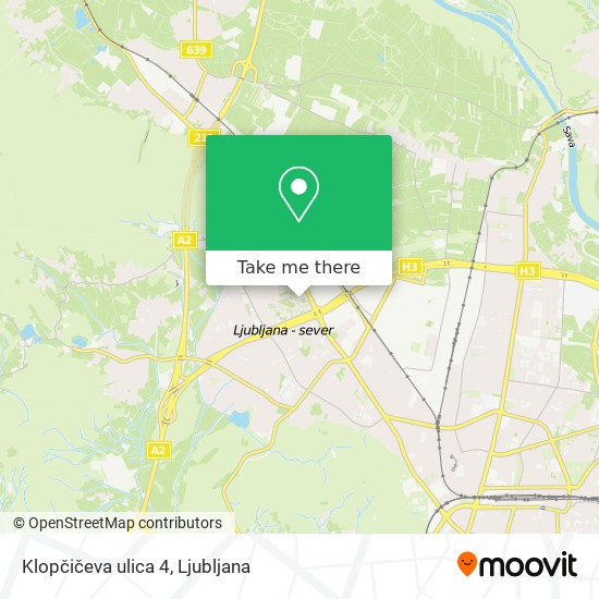 Klopčičeva ulica 4 map