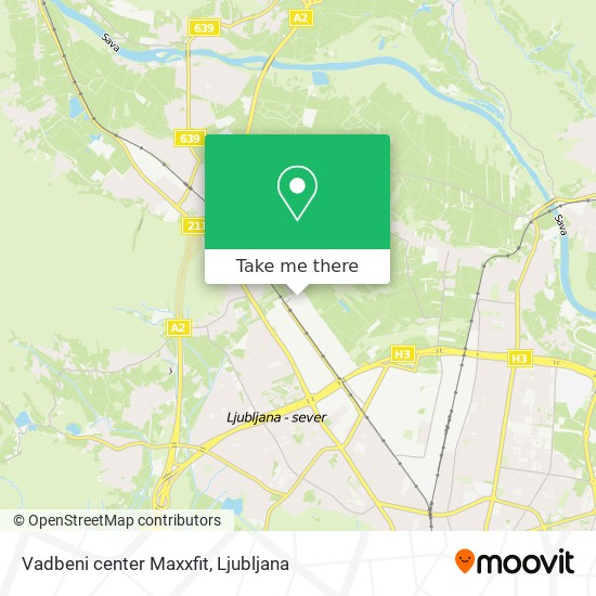 Vadbeni center Maxxfit map