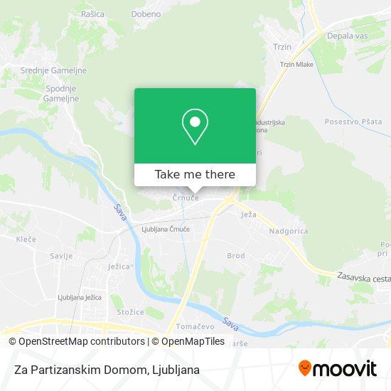 Za Partizanskim Domom map