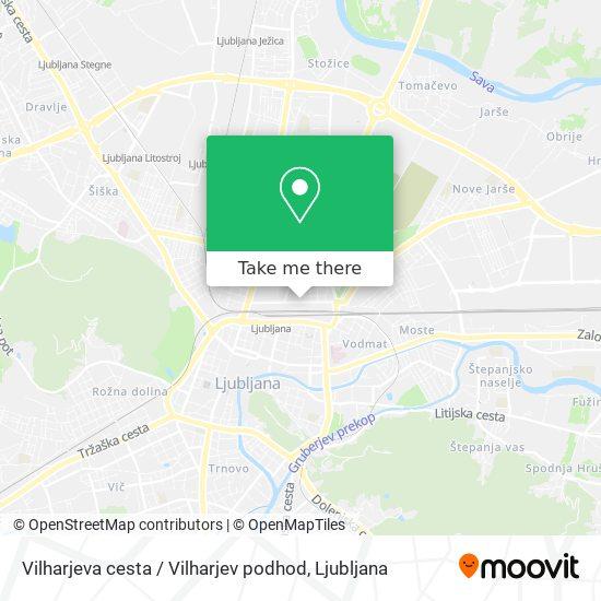 Vilharjeva cesta / Vilharjev podhod map