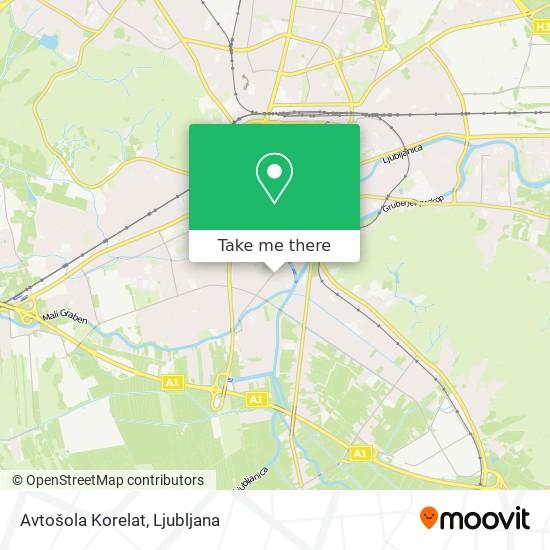 Avtošola Korelat map