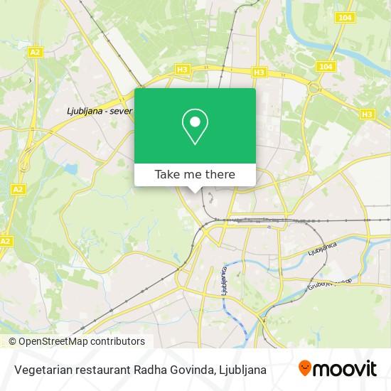 Vegetarian restaurant Radha Govinda map