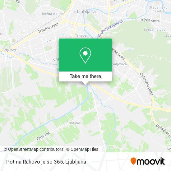 Pot na Rakovo jelšo 365 map
