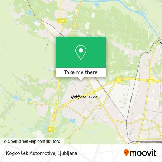 Kogovšek Automotive map