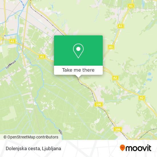 Dolenjska cesta map