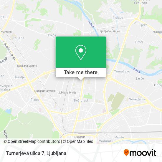 Turnerjeva ulica 7 map