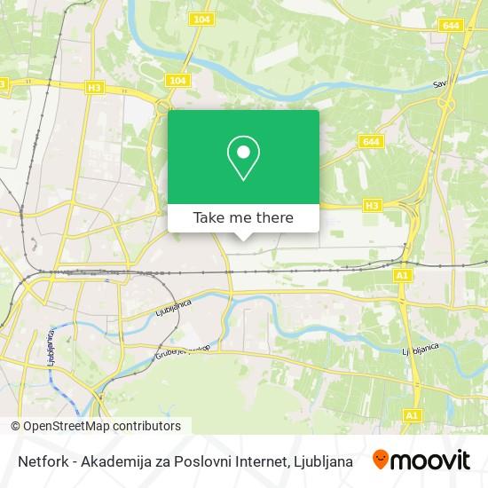 Netfork - Akademija za Poslovni Internet map