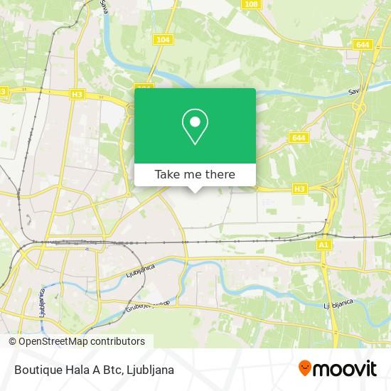 Boutique Hala A Btc map