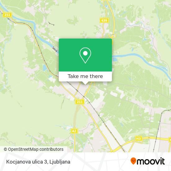 Kocjanova ulica 3 map