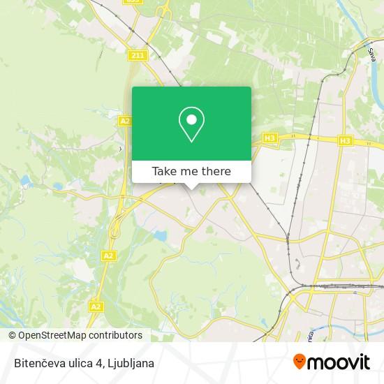 Bitenčeva ulica 4 map