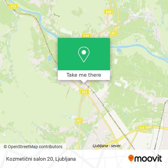 Kozmetični salon 20 map