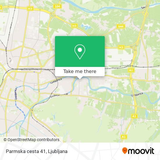 Parmska cesta 41 map
