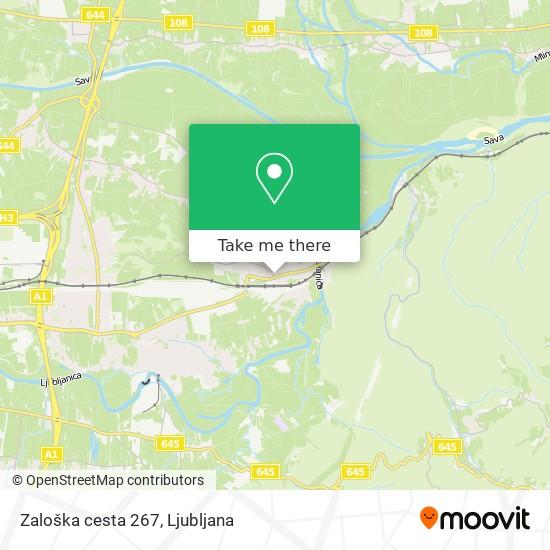 Zaloška cesta 267 map