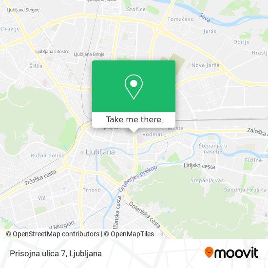 Prisojna ulica 7 map