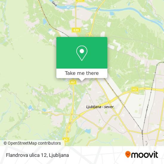 Flandrova ulica 12 map