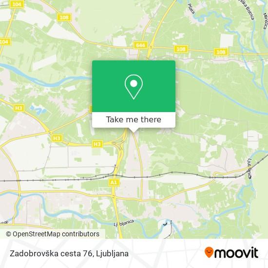 Zadobrovška cesta 76 map