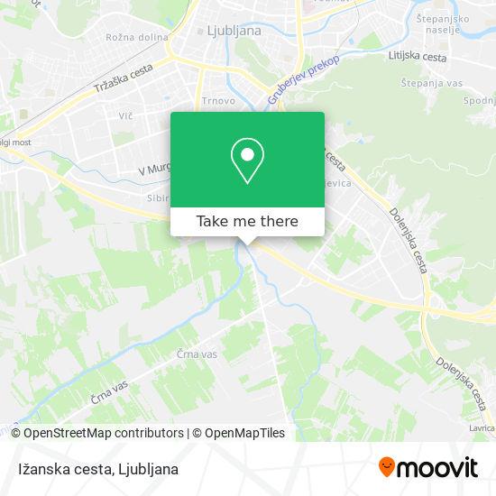Ižanska cesta map
