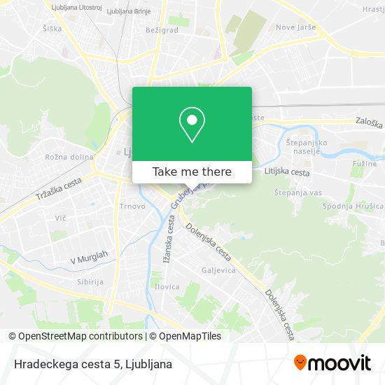 Hradeckega cesta 5 map